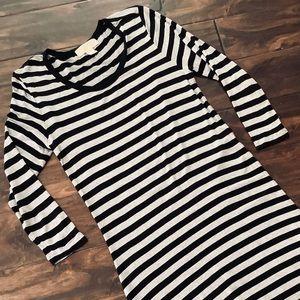 Michael Kors Striped Stretchy Maxi Dress